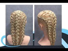 Opsteken en 4 strengen vlecht (examen niv 3) updo with 4 strand braid - YouTube