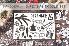 Handdrawn Christmas  doodle bundle by Sentimental postman on Creative Market