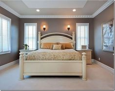 remarkable paint ideas beveled - tray ceiling | colors | pinterest