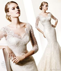 ooh la la - loving this #lace #weddingdress