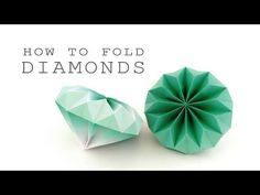 DIY decoration: make paper diamonds yourself with simple folding instructionsMake DIY decoration yourself: beautiful diamonds made of paperHow to fold a diamond 💎. 2 origami Diamond to Fold a Origami Diamond ideas Origami Ball, Instruções Origami, Origami Yoda, Origami Star Box, Origami Fish, Paper Crafts Origami, Origami Folding, Origami Stars, Origami Flowers