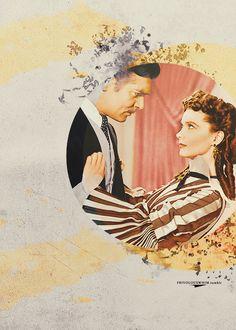 Rhett Butler (Clark Gable) & Scarlett O'Hara (Vivien Leigh) in Gone with the Wind