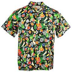 643026e45 Men's Hawaiian Print Button Down Short Sleeve Shirt Bohemian Style  Clothing, Hawaiian Print, Man