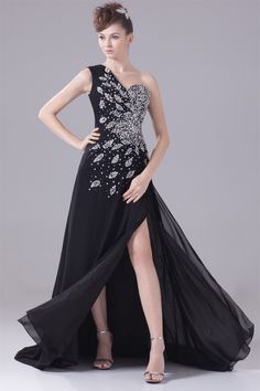 Chiffon Sleeveless One Shoulder A Line Crystals Beading Floor Length Mother of the Bride Dresses Party Dress robe de soiree