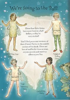 FLOWER FAIRIES Paper Dolls and Flower Fairies Friends from Penguin Group published 2005. Front and Back Designs for Dolls and Dresses 3
