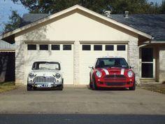 1966 Austin Mini Saloon MK1                 2004 MINI Cooper S
