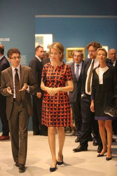 "Queen Mathilde  visited  the exhibition ""the Europe of Rubens"" at the Louvre-Lens Museum  in Lens, France."