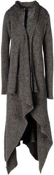 Rick Owens Cardigan //red dress & bag //black boots & jewejry