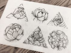Flower design tattoo
