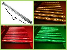 568.00$  Watch now - http://alipzs.worldwells.pw/go.php?t=32652340243 - 4pcs/lot,24x3W Tri-RGB LED Wall Washer Light waterproof DMX RGB Led Bar Home Party Lighting Led Wash 568.00$