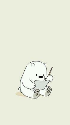 Kawaii Ice Bear Iphone We Bare Bears Wallpaper Cute Disney Wallpaper, Cute Cartoon Wallpapers, Kawaii Wallpaper, Doraemon Wallpapers, Ice Bear We Bare Bears, We Bear, Cute Wallpaper Backgrounds, Wallpaper Iphone Cute, Wallpaper Quotes