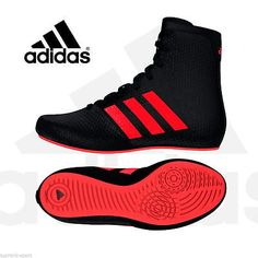 the latest 92c6c a9400 Adidas Boxing KO Legend 16.2 Boots Shoes Black Red Kids Boys - AQ3513   Boxing  Boots   Boxing