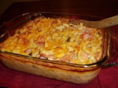 Ham Casserole - Ham - Ideas of Ham - Ham Casserole on BigOven: Try this Ham Casserole recipe or contribute your own. Main dishes and Casseroles are two of the tags cooks chose for Ham Casserole. Ham Casserole, Casserole Dishes, Casserole Recipes, Ham And Noodle Casserole, Breakfast Casserole, Pork Recipes, Crockpot Recipes, Cooking Recipes, Amish Recipes