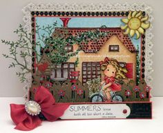 Angelwood's Crafting Corner: Magnolia-licious Challenge - Add Sparkle or Bling