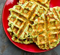 Zucchini Waffle Grilled Cheese