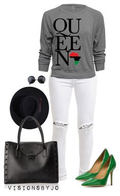 """""""Untitled #1605"""" by visionsbyjo on Polyvore featuring FiveUnits, Salvatore Ferragamo, Stetson and Loeffler Randall"""