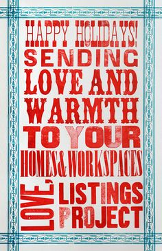 letterpress greetings from the listings project look here designs