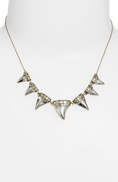 House of Harlow 1960 'Shark Tooth' Frontal Necklace available at #Nordstrom