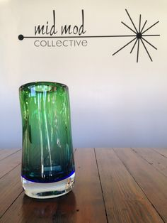 Art glass vase. Available now at Mid Mod Collective. Email midmodcollective@gmail.com for more info. SOLD