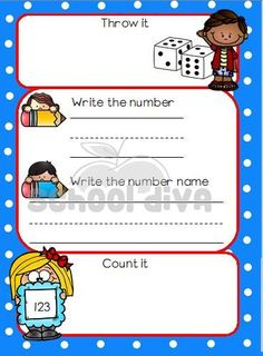Use this game with the dice to learn to count. Learn To Count, Writing Numbers, Mathematics, Counting, Learning, Math, Studying, Teaching, Onderwijs