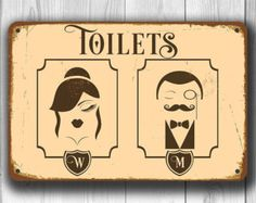 Etsy :: Your place to buy and sell all things handmade Wc Icon, Toilet Door Sign, Toilet Signs, Toilet Art, Roadside Signs, Sign Solutions, Sign Materials, Parking Signs, Outdoor Signs