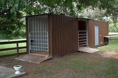Shipping Container Barn Idea … More