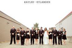 Group photo Kaylee Eylander Photography | Georgetown Ballroom Wedding | Black & White wedding party |