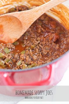 Homemade Sloppy Joes filling