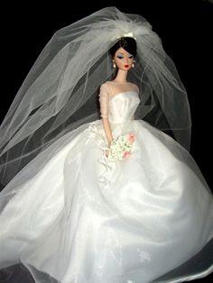 bridal sets & bridesmaid jewelry sets – a complete bridal look Barbie Bridal, Barbie Wedding Dress, Wedding Doll, Barbie Gowns, Barbie Dress, Barbie Doll, Wedding Attire, Wedding Gowns, Pretty White Dresses