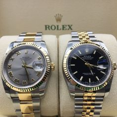 A couple of classic Datejust 36's to blow away the Monday blues! #DailyDuo