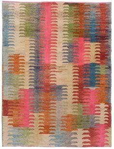 loom rug - Old yarn Kilim Antique Zigzag