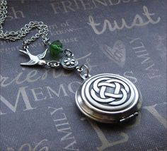 A personal favorite from my Etsy shop https://www.etsy.com/listing/61763719/silver-locket-necklace-enchanted-celtic