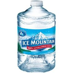 70d0294905 Ice Mountain 100% Natural Spring Water, 101.4 Fl. Oz., 6 Count - Walmart.com