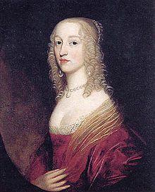 Luise Hollandine von der Pfalz + 1709 im Zisterzienserinnenkloster Maubuisson, war eine Prinzessin von der Pfalz, Titular-Pfalzgräfin bei Rhein, von 1664 bis 1709 Äbtissin des Klosters Maubuisson sowie Malerin und Kupferstecherin - Porträt Luise Hollandines von Gerrit van Honthorst, 1642