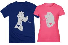 Lady & The Tramp Couples Tee Shirts  Lady and The by DeeeeBees