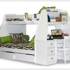 Bunk/Loft Bed With Chair-Desk And Sofa Combo
