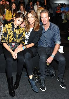 Pin for Later: Cindy Crawford's Son Makes His Catwalk Debut, Has the Support of His Entire Family