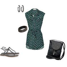 zigzag shirt dress