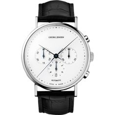 The KOPPEL 307 - 41 mm automatic chronograph, white dial. By Georg Jensen, 2008.  simple enough to be awesome.