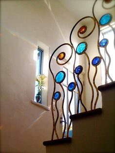 Stained glass integrated with steel, not so sure about this particular design, though