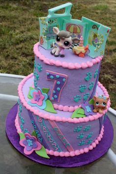 littlest pet shop cakes | loved making this cake, because my favorite color is teal! haha! The ...