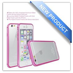 iPhone 6 Plus Case, Zio [Aluminum Metal Frame] [TPU Hybrid Fusion] [All Clear Scratch-Resistant Clear Back Cover] [Shock Absorbent] iPhone 6 Plus 5.5'' Case [Iron Bumper] [2015 Model] (iPhone 6 Plus-Pink) Zio http://www.amazon.com/dp/B00XXIEM6E/ref=cm_sw_r_pi_dp_QiHPvb16GK2F9