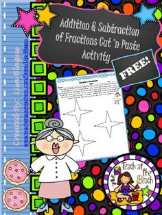 This is a FREE activity based on adding and subtracting fractions that ...