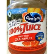 I just looked up Ocean Spray 100% Juice, Ruby Red, Grapefruit Blend   BLEND!  Yea, more like apple, grape, and a whole lot of coloring.  Ocean Spray is about the WORST for misleading labels.