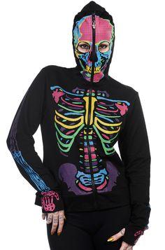 Banned Rainbow Skeleton Women's Hoody