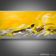 Palette Knife Painting Modern Painting Art LARGE by Catalin. Abstract painting for your home! Yellow Painting, Large Painting, Texture Painting, Art Paintings, Painting Art, Abstract Paintings, Abstract Painting Techniques, Original Art, Original Paintings