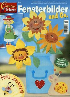 Creativ-Idee Titelbild Ausgabe 96/2016 Crafts To Make, Crafts For Kids, Autumn Art, Paper Decorations, Spring Crafts, Quality Time, Pattern Paper, Paper Cutting, Paper Flowers