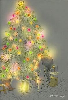 Animated gif shared by Naty. Find images and videos about girl, cute and gif on We Heart It - the app to get lost in what you love. Merry Christmas Gif, Christmas Scenes, Christmas Love, Christmas Pictures, Vintage Christmas, Illustration Noel, Christmas Illustration, Of Wallpaper, Cartoon Wallpaper