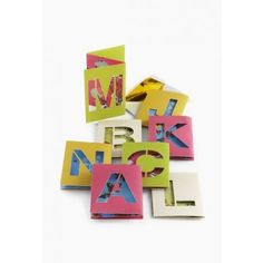 accordion initial notecards