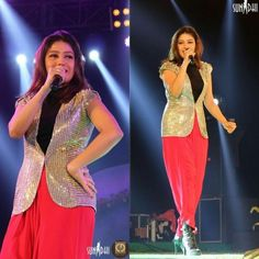"""How stunning does she look ? 😍 Sunidhi Chauhan rocking it in our Power Shoulder Jacket from """"Oh! So Quaint!"""" By Sonam Parmar at Haldia Mela ✨💞💃🏼✨ Styled by : Esha Oberoi Sunidhi Chauhan, Prom Dresses, Formal Dresses, Indian Beauty, Singers, Star, Inspired, Shoulder, Jackets"""
